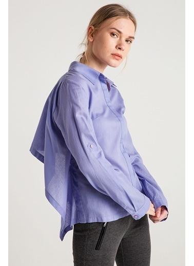 Sırtı Dekolte Ve Bağlama Detaylı Gömlek-Love'n Fashion Paris
